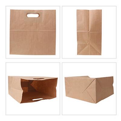 Die Cut Brown Kraft Paper Bag (280 X 280 X 150mm) - (printed with 1 colour(s)) PCPB190_PC
