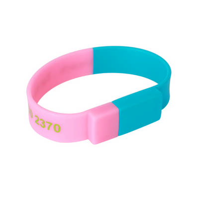 Sectional Coloured Wristband Flash Drive