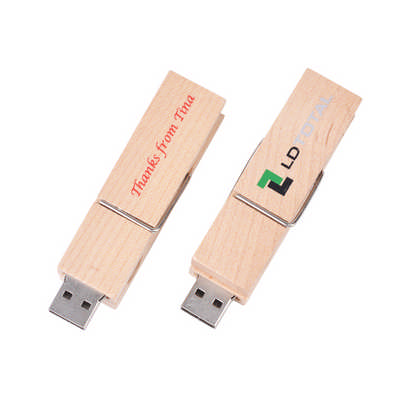 Wooden Clip Flash Drive