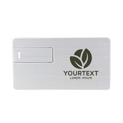 Large Alloy Card Shaped Flash Drive