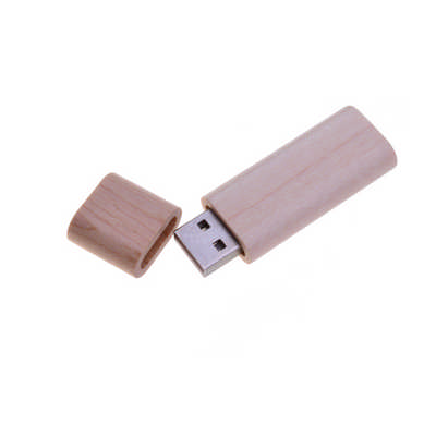 Rounded Wooden Flash Drive
