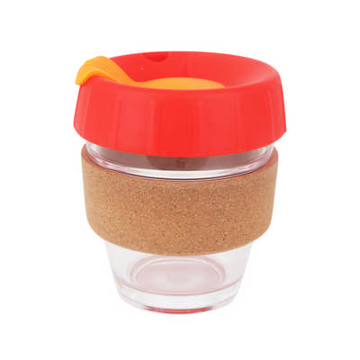 8 OZ Deluxe Reusable Glass Coffee Mug