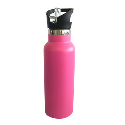 600ml Double Wall Vacuum Bottle with Flip Valve Lid