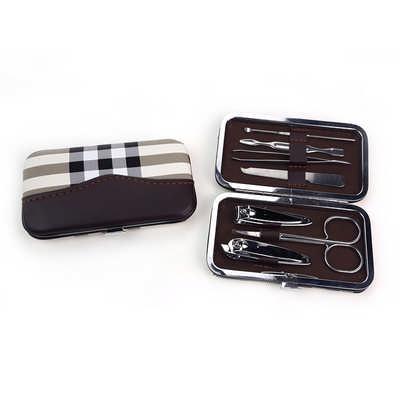 Pu Lattice Stylish Manicure Set