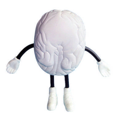 Brain with Hand And Leg Shape Stress Reliever