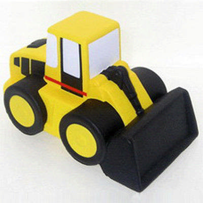 Cartoon Bulldozer Shape Stress Reliever