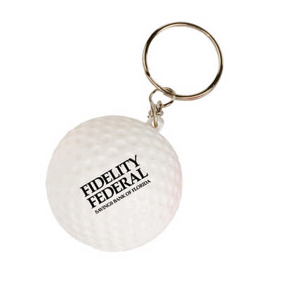 Golf with Keyring Stress Item