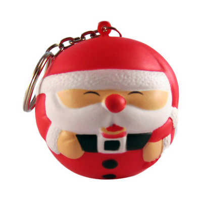 Christmas Man with Keyring Stress Item