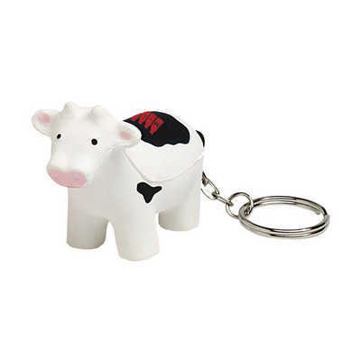 Cow with Keyring Stress Item