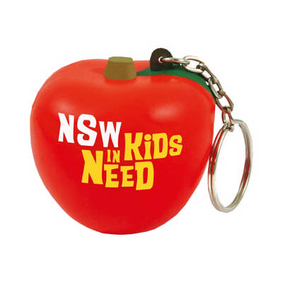 Apple with Keyring Stress Reliever