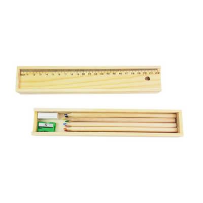 Wooden Colorful Pencil Set