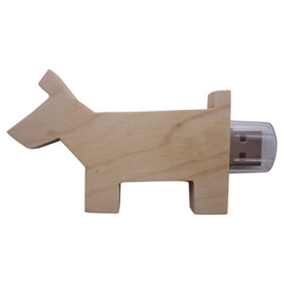 Wooden Dog Drive 16GB