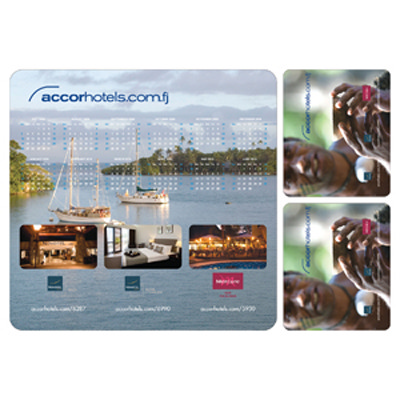 PVC Pad with 2 Coasters - (printed with 1 colour(s)) MM806_PROMOITS