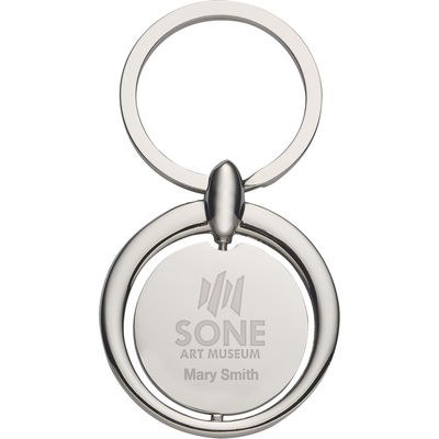 Circular Metal Key Tag - (printed with 4 colour(s)) PH4713_sil_PS