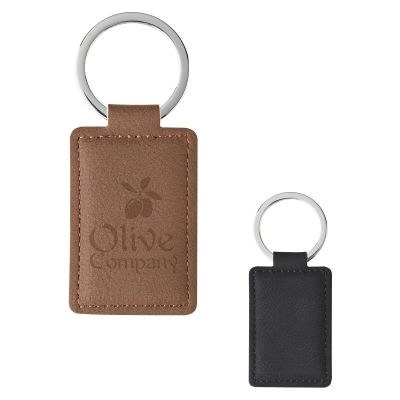 Leatherette Executive Key Tag - (printed with 1 colour(s)) PH4730_blk_PS