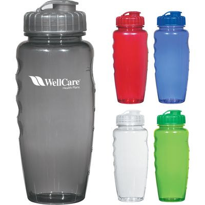 800Ml Poly-Clear Gripper Bottle - (printed with 1 colour(s)) PH5898_TRNCHA_PS