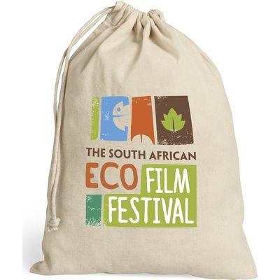 Green Earth Cotton Drawstring Bag