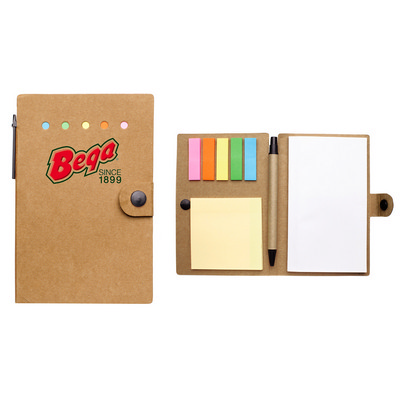 Small Snap Closure Notebook With Desk Essentials (PS1350_PS)