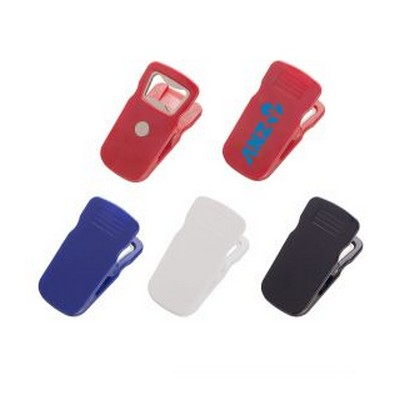 MAGNETIC BOTTLE OPENER CLIP - (printed with 1 colour(s)) PH205_PS