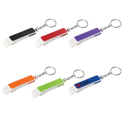 Bottle Opener/Phone Stand Key Ring - (printed with 1 colour(s)) PH206_PS