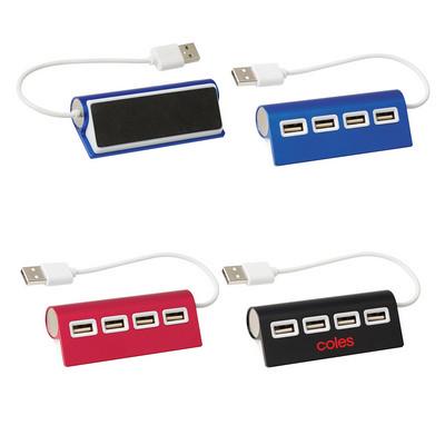 4-Port Aluminum Wave USB Hub (PH2833_PS)