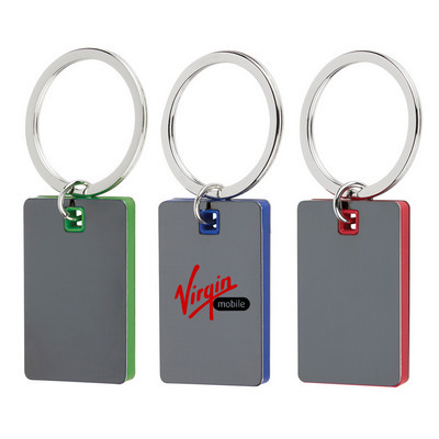 Color Block Mirrored Key Ring
