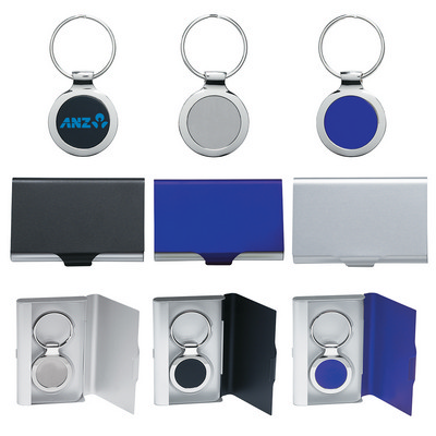 2-In-1 Key Ring/Business Card Holder
