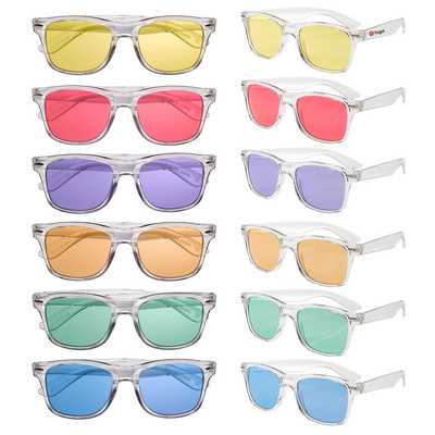 Clear Sunglasses with Coloured Lens