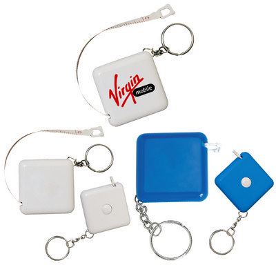 Square Retractable tape measure Key Ring (PH62_PS)