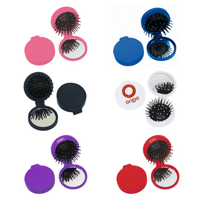Brush And Mirror Compact - (printed with 1 colour(s)) PH7113_PS