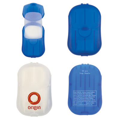 Sheets Of Hand Soap In Compact Travel Case - (printed with 1 colour(s)) PH9302_PS