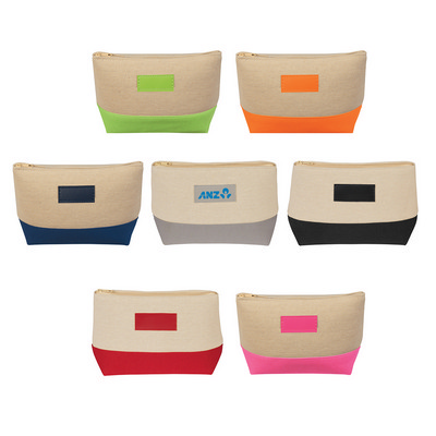 Jute/Canvas Cosmetic Bag - (printed with 1 colour(s)) PH9445_PS