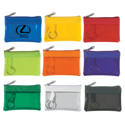 Clear Zippered Coin Pouch