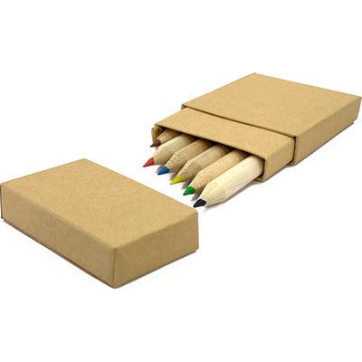Six Mini Coloured Pencils
