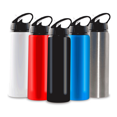 750ml Aluminium Water Bottle with Straw