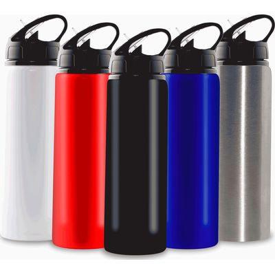 750Ml Aluminium Water Bottle With Straw