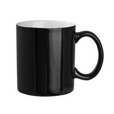 Black Exterior with White Interior Can Shape Mug (PS2606-BW_PS)
