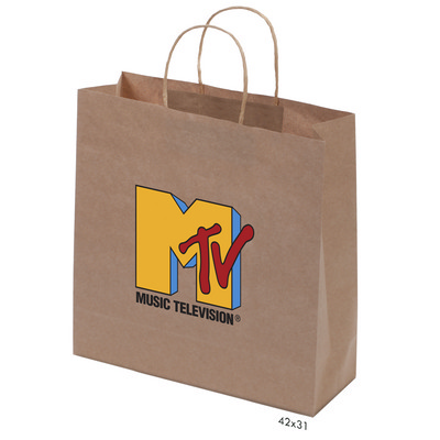 Kraft Paper Bag Brown Large Includes Twisted Paper Handle - (printed with 1 colour(s)) PS4601_L_PS