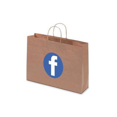 Kraft Paper Bag Brown Landscape Includes Twisted Paper Handle PS4601_ls_PS