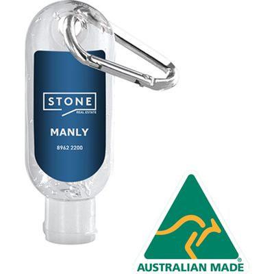 Hand Sanitiser With Carabiner 30Ml Made In Australia