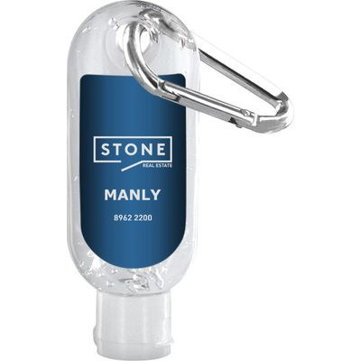 Hand Sanitiser With Carabiner 30Ml Made In China