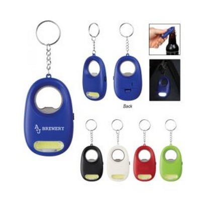 COB LIGHT KEY CHAIN WITH BOTTLE OPENER
