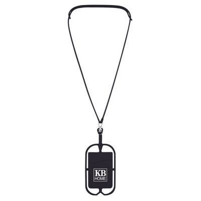 SILICONE LANYARD WITH PHONE HOLDER & WALLET (PH228_PS)