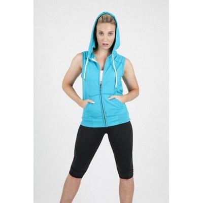 Ladies Junior Sleeveless Hoodie - Greatness Heather Range