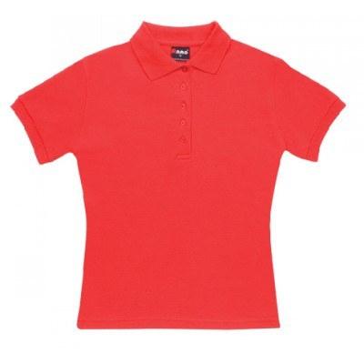 Ladies 100% Cotton Pique Knit Polo