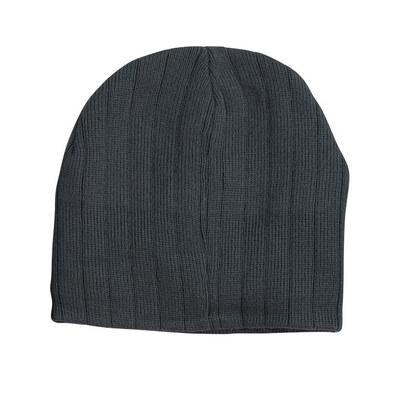 Cable Knit Beanie With Fleece Headband