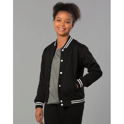 Kids Fleece Letterman Jacket