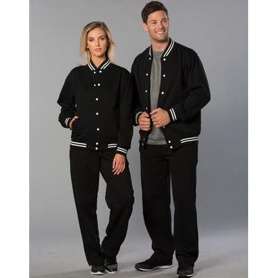 Unisex Fleece Letterman Jacket