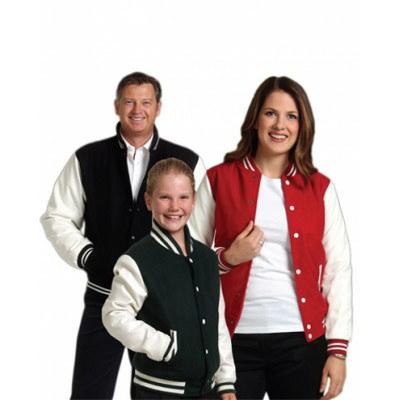 Kids Wool Blend Varsity Jacket 400gsm