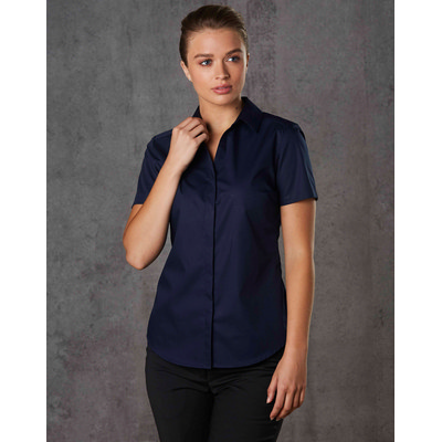 Barkley Ladies Taped Seam Short Sleeve Shirt